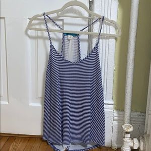 White and blue stripped tank top